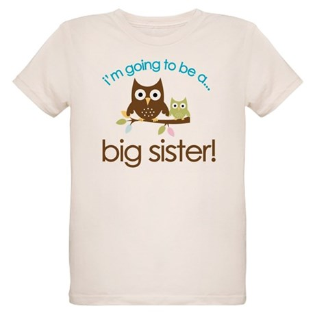 i'm going to be a big sister owl shirt Organic Kid
