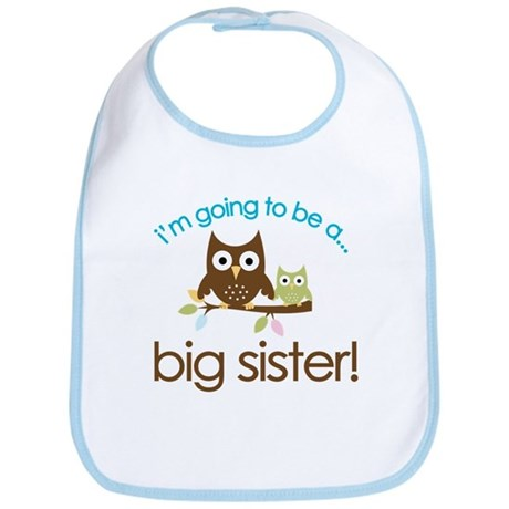 i'm going to be a big sister owl shirt Bib