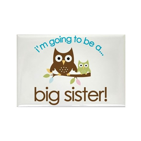 i'm going to be a big sister owl shirt Rectangle M