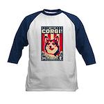 Obey the CORGI! Kids Baseball Jersey