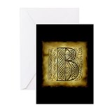 Celtic Letter B Greeting Cards (Pk of 10)