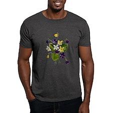 VIOLET BOUQUET FAUX EMBROIDERY T-Shirt