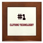 Number 1 CLOTHING TECHNOLOGIST Framed Tile