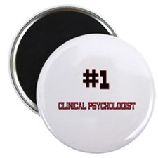 "Number 1 CLINICAL PSYCHOLOGIST 2.25"" Magnet (10 pa"