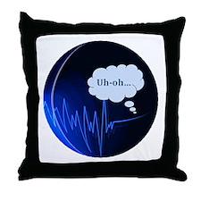 Uh Oh Dark Blue Throw Pillow