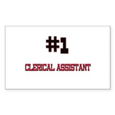 Number 1 CLERICAL ASSISTANT Rectangle Decal