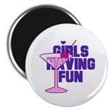 "Girls Having Fun 2.25"" Magnet (10 pack)"