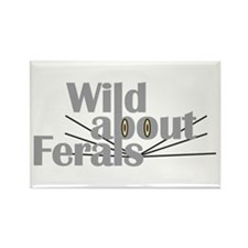 Wild about Feral Cats Rectangle Magnet