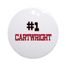 Number 1 CARTWRIGHT Ornament (Round)