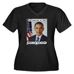 Barack Obama Free Stuff Women's Plus Size V-Neck D