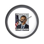 Barack Obama Free Stuff Wall Clock