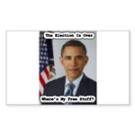 Barack Obama Free Stuff Rectangle Sticker 10 pk)