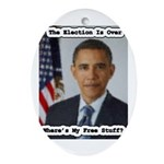 Barack Obama Free Stuff Oval Ornament