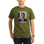 Barack Obama Free Stuff Organic Men's T-Shirt (dar