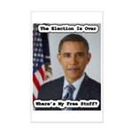 Barack Obama Free Stuff Mini Poster Print