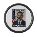 Barack Obama Free Stuff Large Wall Clock
