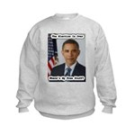 Barack Obama Free Stuff Kids Sweatshirt