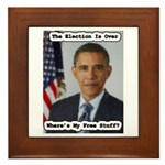 Barack Obama Free Stuff Framed Tile