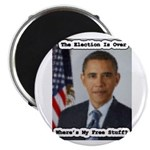 "Barack Obama Free Stuff 2.25"" Magnet (10 pack"