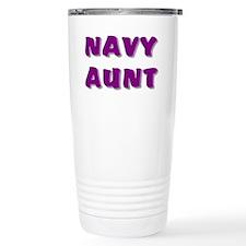 Navy Aunt Travel Coffee Mug