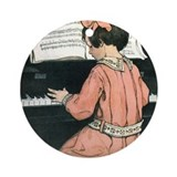 Child Playing the Piano Ornament (Round)
