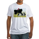 Black Cochin Family Fitted T-Shirt