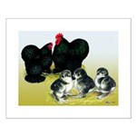 Black Cochin Family Small Poster