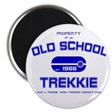 "Blue - Old School Trekkie 2.25"" Magnet (10 pa"