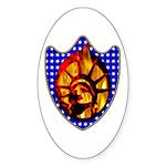 Liberty Endures Oval Sticker (10 pk)