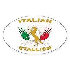 Italian Stallion Oval Decal