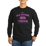 Pink - Old School Trekkie Long Sleeve Dark T-Shirt