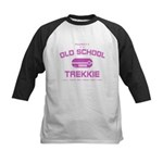 Pink - Old School Trekkie Kids Baseball Jersey