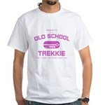 Pink - Old School Trekkie White T-Shirt