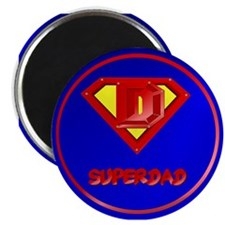 "Super Dad lettered 2.25"" Magnet (100 pack)"