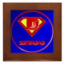 Super Dad lettered Framed Tile