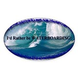 Waterboarding Oval Decal