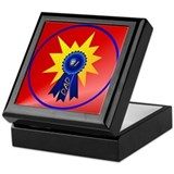 Blue Ribbon Dad with splash Keepsake Box
