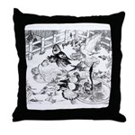 English Trumpeter Group Throw Pillow