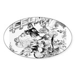 English Trumpeter Group Oval Sticker