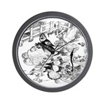English Trumpeter Group Wall Clock