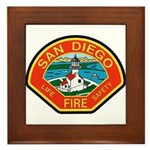 San Diego Fire Department Framed Tile
