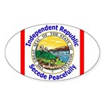 Montana-5 Oval Sticker (50 pk)