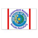 Texas-5 Rectangle Sticker