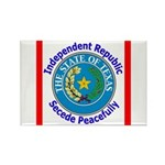 Texas-5 Rectangle Magnet (100 pack)
