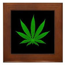 Pot Leaf Framed Tile