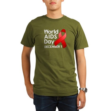 World AIDS Day Organic Men's T-Shirt (dark)