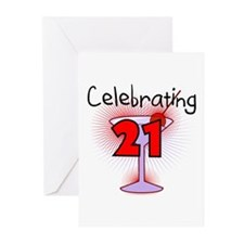 Cocktail Celebrating 21 Greeting Cards (Pk of 10)