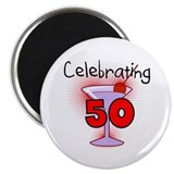 Cocktail Celebrating 50 Magnet