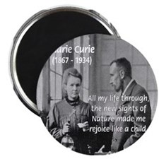 "Marie Curie Physics Liberty 2.25"" Magnet (100 pack"