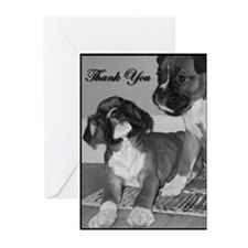 Thank You Boxer Dog Greeting Cards (Pk of 20)